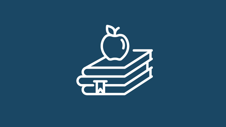 books with apple icon