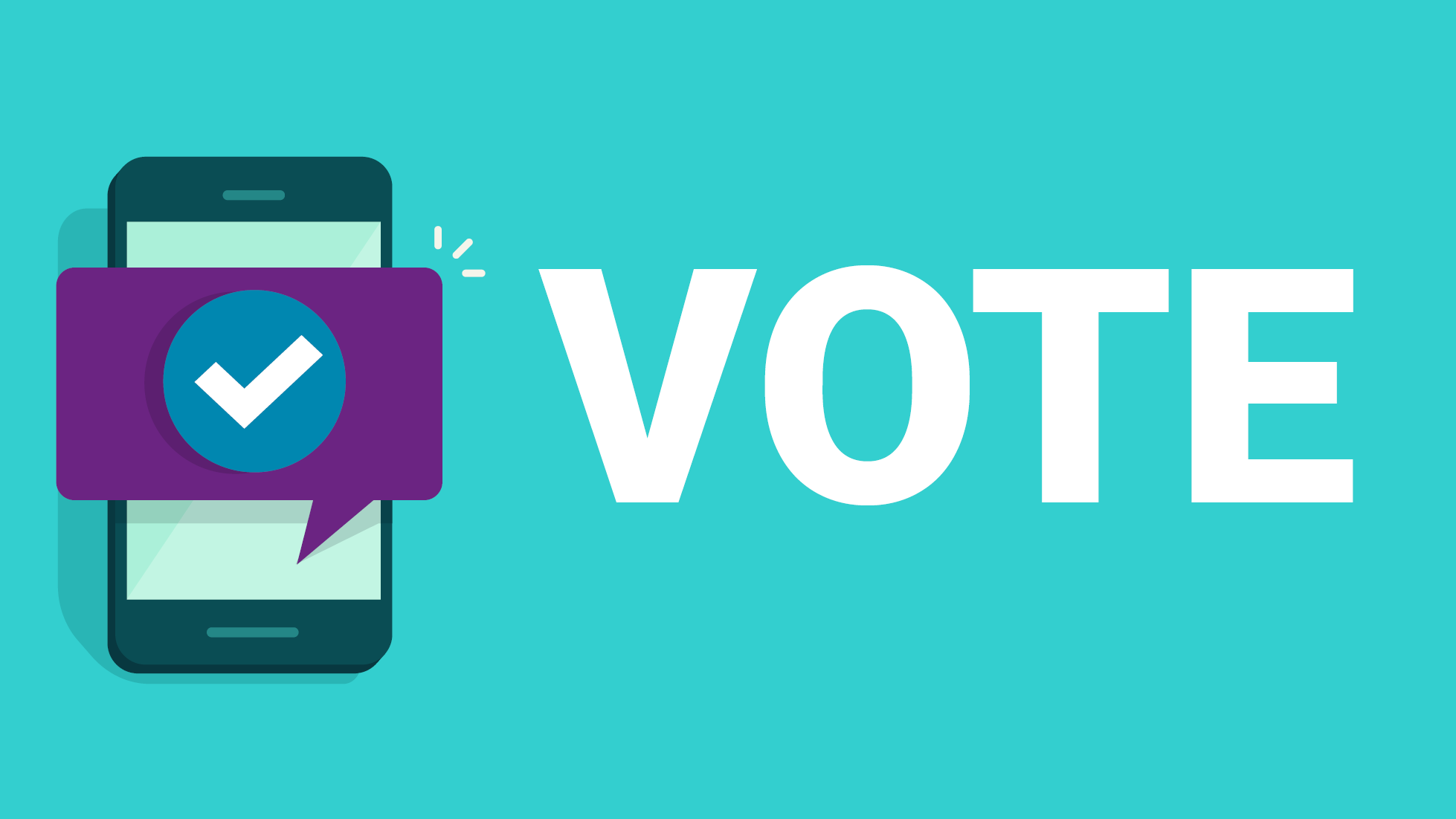 vote on your mobile graphic