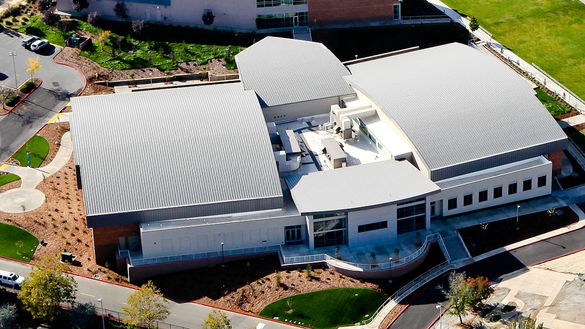 Folsom Lake College, Main Campus arial of falcon gymnasium