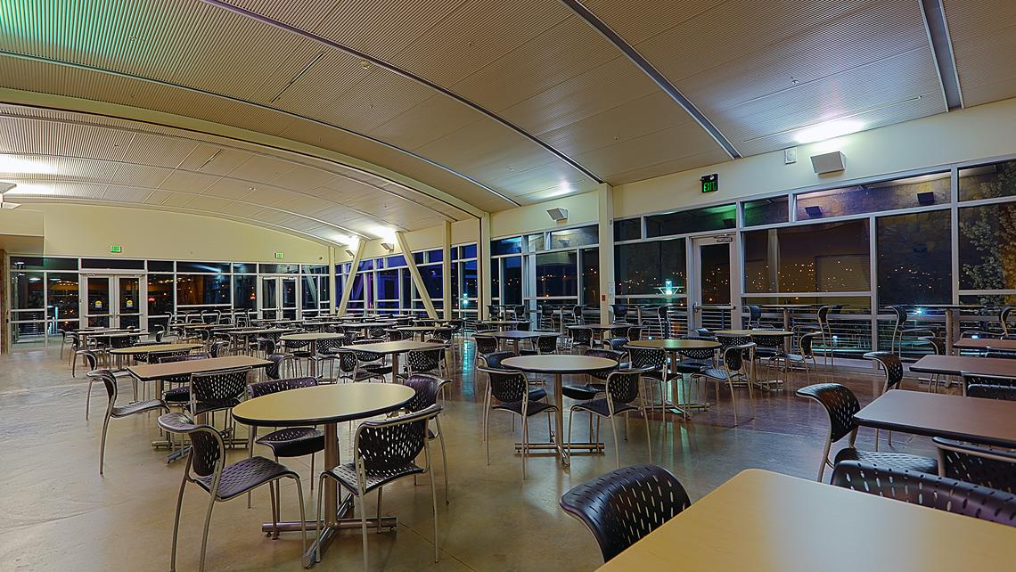 Folsom Lake College, Main Campus Roost interior at night