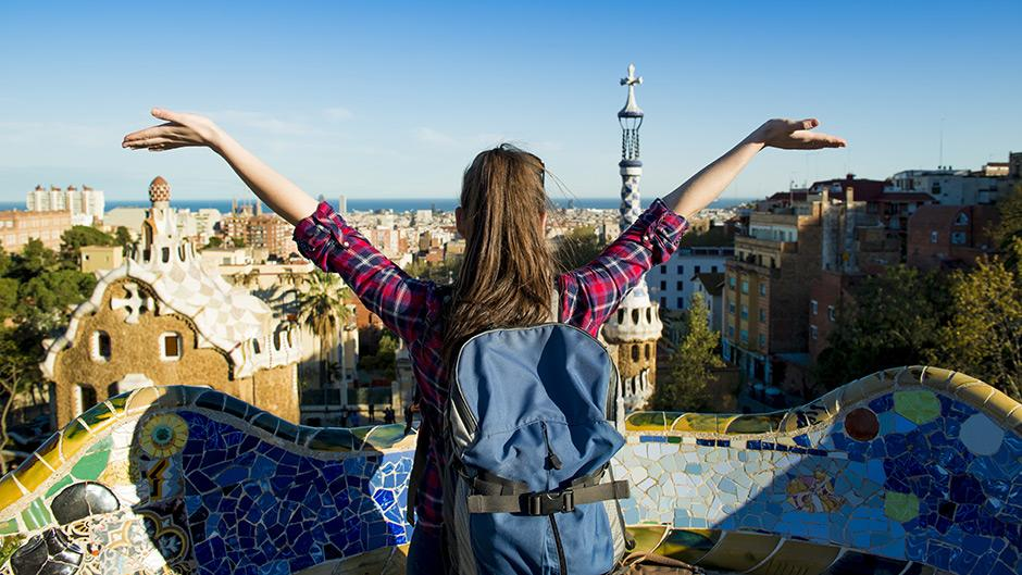 Student studying abroad in Barcelona.